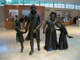 When you enter the Visitor Center at Mt. Vernon, this lively family group seems to step out to greet you. Martha, a widow, had two children when she met and married George. Here they are depicted as ... , Peggy B - October 2009