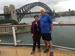 Carolyn and Mike on the cruise ship after doing the climb. , Michael G - May 2015