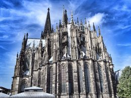 This is a rear photograph of Cologne's cathedral which is HUGE. , David Lally - September 2015