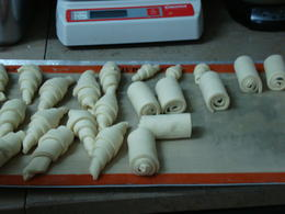 Croissants ready for baking, Emily - October 2012