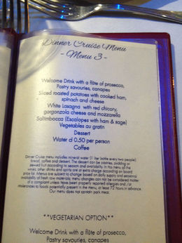 A wonderful dinner, with plenty of wine, prosciutto the ham of the menu and all prepared with great flair. , Stephen C - October 2015
