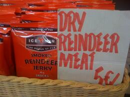 Dry Reindeer meet on sale - not as good as the fresh fish, but a good snack, Balti-most - October 2010