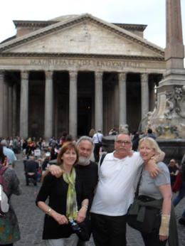 This was taken in rome and is wayne and di trevor and chris vincent , TREVOR V - December 2014