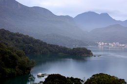 the view from our hotel at sun moon lake , Dave N - November 2015