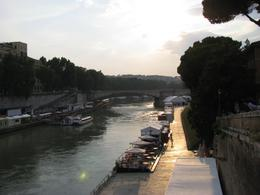 The Tiber River at the end of our tour!!!! Beautiful sunset!!! Our guide also gave us great recommendations for restaurants., Sherry D - August 2010