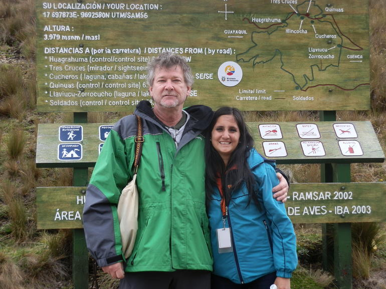 William and our guide Balen (sp?) at Cajas Nacional Parque - Ecuador