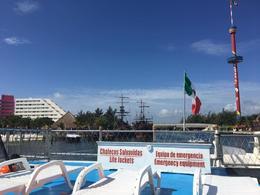 The upper level of the Catamaran Dance Cruise , Dee - September 2017