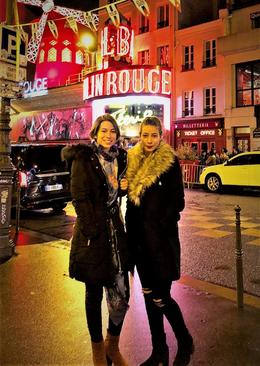 Grace and Claudia after the show at Moulin Rouge , Barry F - December 2017