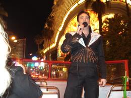 "Enjoying the bright lights of Vegas, and fabulous singing of ""Elvis"", Josephine J - December 2009"