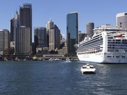 Downtown Sydney and our ship the Diamond Princess. , Husker1k - February 2012