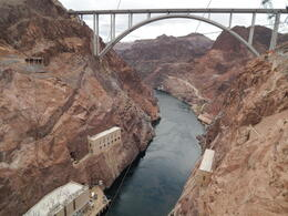 suspension bridge at hoover dam , Dawn D - May 2014