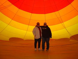 My mom and I inside the balloon, Cowboysrock - April 2013