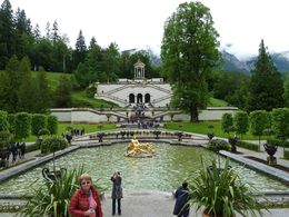 Linderhof Castle part of the walled garden and fountain complex , Galen S - June 2016