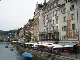 The left bank in Lucerne - June 2008