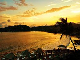Sunset Over Zihuatanejo Bay, Mexico, mikerichard - August 2015