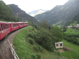 Alpes suizos en el tren Bernina express , Esther - August 2014