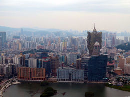 This was taken from the Skytower in Macau , Annette F - April 2015