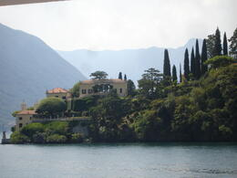 One of the many villas we had the chance to admire from the boat ride from Como to Bellagio. , Vangelis E - August 2013