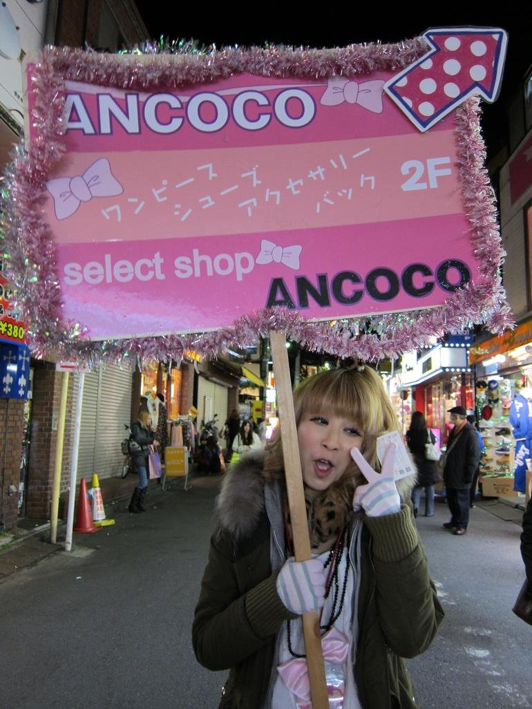 Weird Girl Advertising in Harajuku! - Tokyo