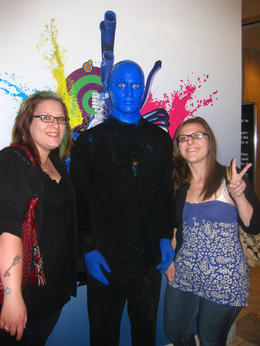 After the show, you get to meet the Blue Men..., indieandiejones - May 2011