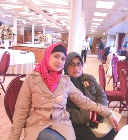 My mom and I were relaxing at Symphony Ship while cruising Tokyo Bay , Ella - March 2017