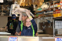 You might even catch a flying fish! Pike's Fish Market. , Kimberly L - August 2017