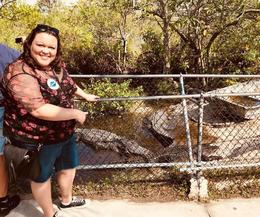Checking out the Gators at the Park , Kassie D - November 2017