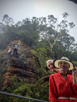 Weather was so bad we could not see the 3 sisters at all - but the guide took us down to see 1st of the 3 sisters close up. Great fun , Ian barty - February 2016