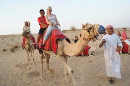 That's me in the red shirt. My first time to ride a camel., Ramonsito G - September 2010
