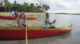 My friend Monica (right) and me paddled for the first time in our lives! , Mariangela M - August 2012