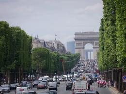 Champs-Elysees with the Arc de Triomphe in the background , Robert L - July 2012