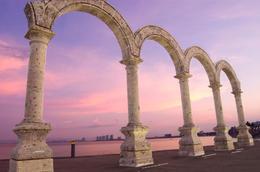 "Puerto Vallarta beachfront boulevard, El Malecon, and ""Los Arcos"" monument - November 2011"