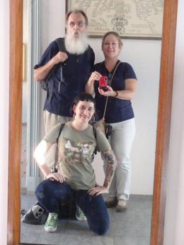 Kim, Narla Fries and daughter Kimberly at the NorskFolk Museum, before we had the pass. We visited Vigeland Park and Museum, the Natural History Museum, Munch Museum and rode the T using the pass! ... , Narla F - September 2014