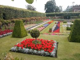 One of the really lovely and colorful flower gardens at Hampton Court Palace. , thepea - July 2014