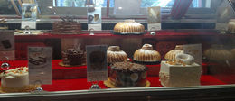 The cakes looks great at Delessio Market & Bakery inside Falletti Foods, Emily G - August 2015