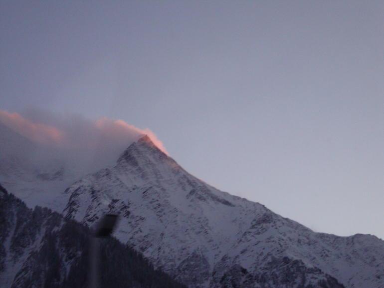 Mont Blanc at sunset - Geneva