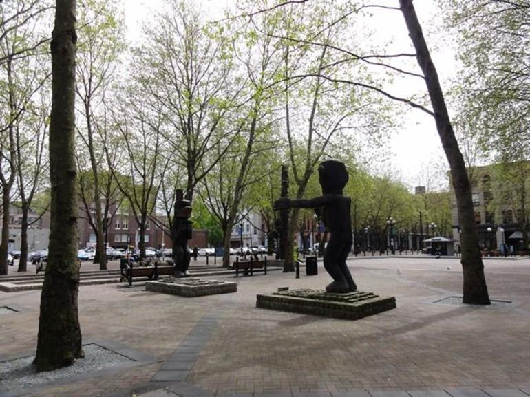 Occidental Park is in the heart of the historic Pioneer Square district - Seattle