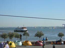 view of the Tagus River near the Cais do Sadre Metro Station , R The Traveler - October 2012