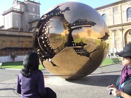 Globe in one of the courtyards in The Vatican, Elaine C - November 2010