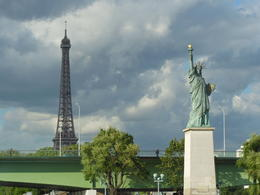 Eiffel Tower and Statue of Liberty in one shot! , Michael L - June 2012