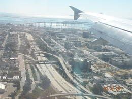 View from our window as we were landing in San Diego , Fred B - February 2011