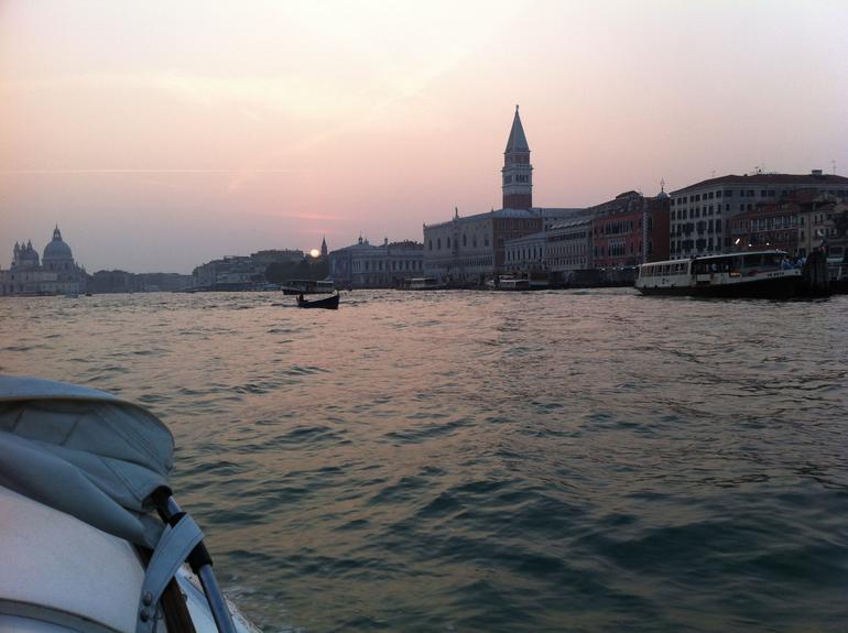 Approaching San Marco, Venice at dusk - Venice