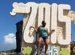 Tenecia Celebrating her birthday at Xel Ha May 2015 , Tenecia M - June 2015