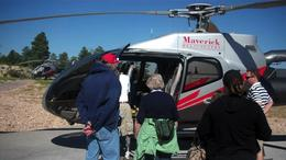 Boarding the helicopter - August 2011