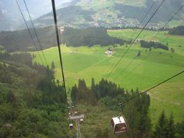 Taking a LONG, beautiful gondola ride to the top of Mount Titlis. - September 2008
