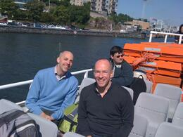 Ken and Luke enjoying a sunny harbor cruise. BRING A SWEATER - even in July it gets cold on the water., Balti-most - October 2010