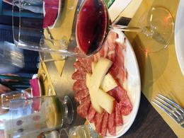 Lunch included two glasses of wine, bruschetta, meat and cheese and a lunch buffet with different salads, veggies, and pasta! , tanyaewilliams - September 2014