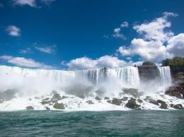 American Falls (left) and Bridal Veil Falls (right) - July 2013