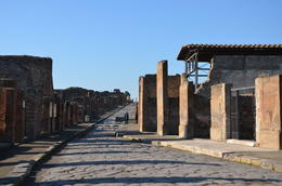 One of the ancient main roads in Pompeii. , Jamie R - December 2013