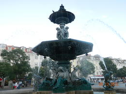 this is in downtown Lisbon, one of several interesting squares , R The Traveler - October 2012